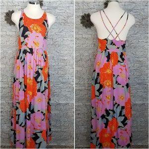 Ann Taylor Loft Floral Maxi Dress Size 0